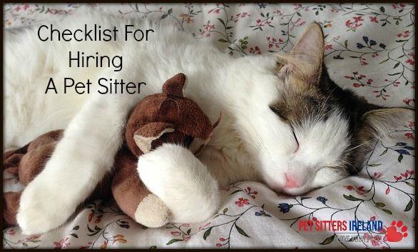Checklist for hiring a Pet Sitter